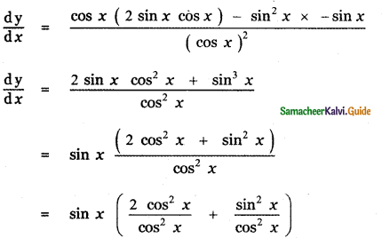 Samacheer Kalvi 11th Maths Guide Chapter 10 Differentiability and Methods of Differentiation Ex 10.3 10