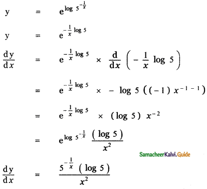 Samacheer Kalvi 11th Maths Guide Chapter 10 Differentiability and Methods of Differentiation Ex 10.3 11