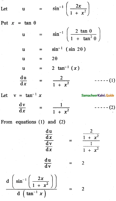 Samacheer Kalvi 11th Maths Guide Chapter 10 Differentiability and Methods of Differentiation Ex 10.4 26