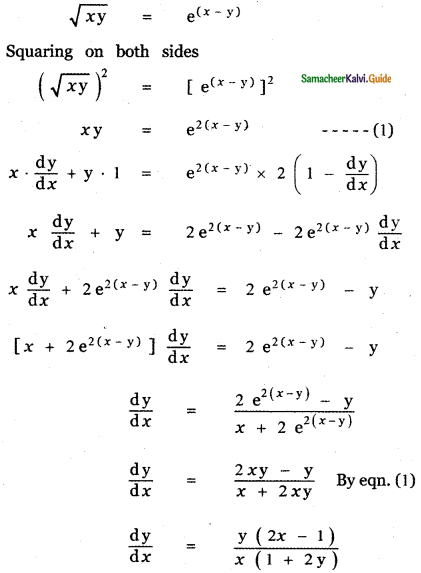 Samacheer Kalvi 11th Maths Guide Chapter 10 Differentiability and Methods of Differentiation Ex 10.4 4