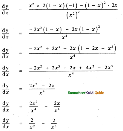 Samacheer Kalvi 11th Maths Guide Chapter 10 Differentiability and Methods of Differentiation Ex 10.5 18