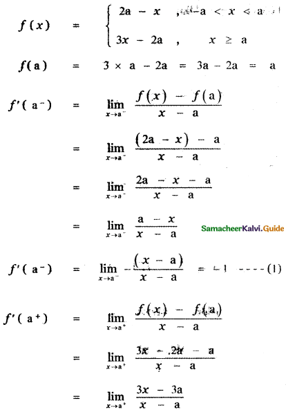 Samacheer Kalvi 11th Maths Guide Chapter 10 Differentiability and Methods of Differentiation Ex 10.5 33