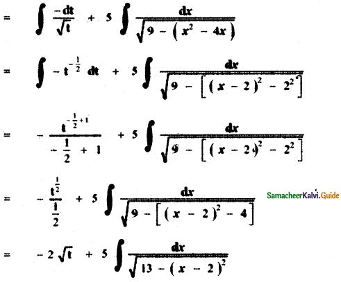 Samacheer Kalvi 11th Maths Guide Chapter 11 Integral Calculus Ex 11.11 10
