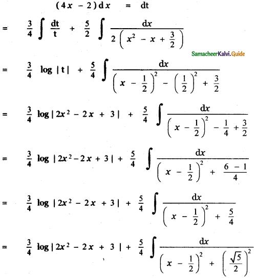 Samacheer Kalvi 11th Maths Guide Chapter 11 Integral Calculus Ex 11.11 7