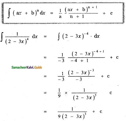 Samacheer Kalvi 11th Maths Guide Chapter 11 Integral Calculus Ex 11.2 2