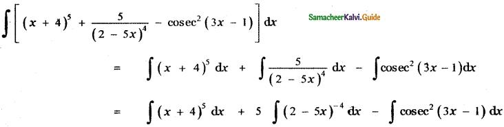 Samacheer Kalvi 11th Maths Guide Chapter 11 Integral Calculus Ex 11.3 1