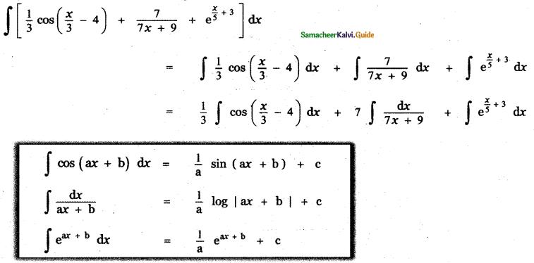 Samacheer Kalvi 11th Maths Guide Chapter 11 Integral Calculus Ex 11.3 11