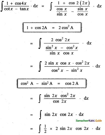 Samacheer Kalvi 11th Maths Guide Chapter 11 Integral Calculus Ex 11.5 21