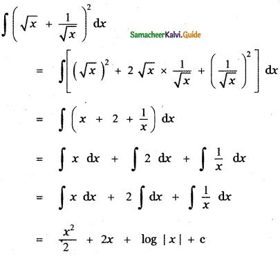 Samacheer Kalvi 11th Maths Guide Chapter 11 Integral Calculus Ex 11.5 5
