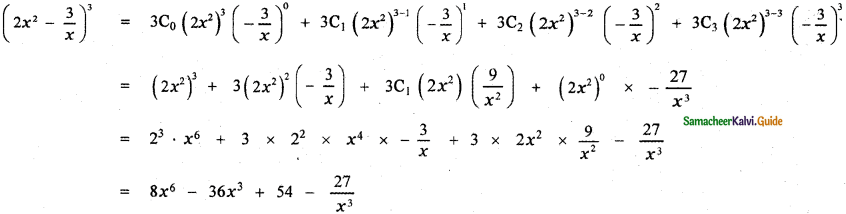 Samacheer Kalvi 11th Maths Guide Chapter 5 Binomial Theorem, Sequences and Series Ex 5.1 1