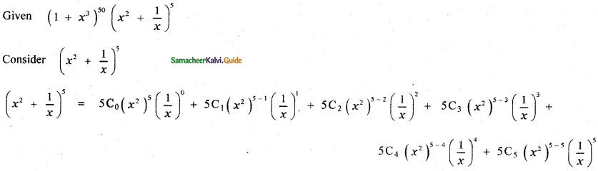 Samacheer Kalvi 11th Maths Guide Chapter 5 Binomial Theorem, Sequences and Series Ex 5.1 12