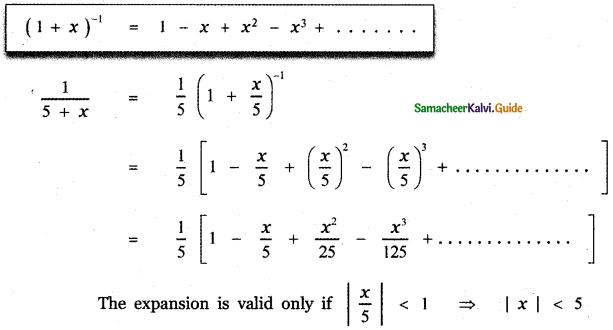 Samacheer Kalvi 11th Maths Guide Chapter 5 Binomial Theorem, Sequences and Series Ex 5.4 2