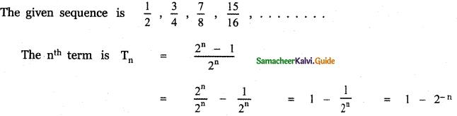 Samacheer Kalvi 11th Maths Guide Chapter 5 Binomial Theorem, Sequences and Series Ex 5.5 13