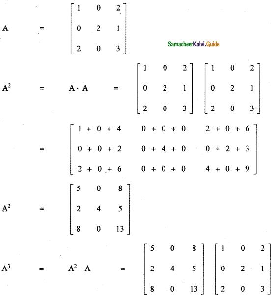 Samacheer Kalvi 11th Maths Guide Chapter 7 Matrices and Determinants Ex 7.1 22