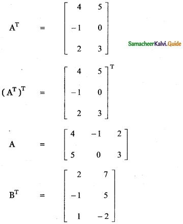 Samacheer Kalvi 11th Maths Guide Chapter 7 Matrices and Determinants Ex 7.1 39