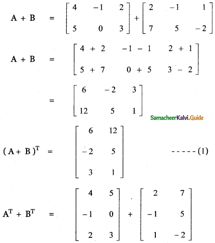 Samacheer Kalvi 11th Maths Guide Chapter 7 Matrices and Determinants Ex 7.1 40