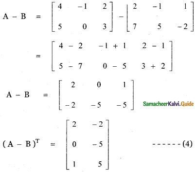 Samacheer Kalvi 11th Maths Guide Chapter 7 Matrices and Determinants Ex 7.1 42