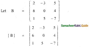 Samacheer Kalvi 11th Maths Guide Chapter 7 Matrices and Determinants Ex 7.4 6