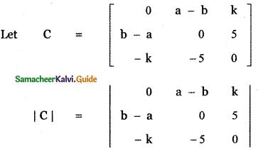 Samacheer Kalvi 11th Maths Guide Chapter 7 Matrices and Determinants Ex 7.4 7