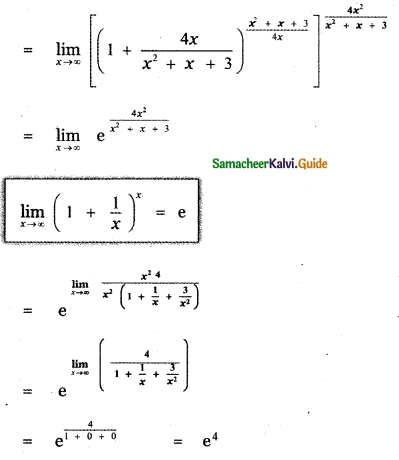 Samacheer Kalvi 11th Maths Guide Chapter 9 Limits and Continuity Ex 9.6 11