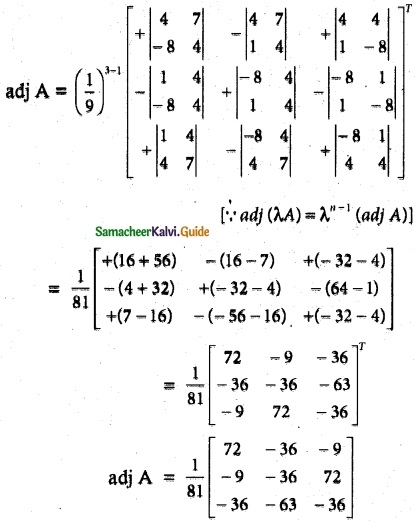 Samacheer Kalvi 12th Maths Guide Chapter 1 Applications of Matrices and Determinants Ex 1.1 15