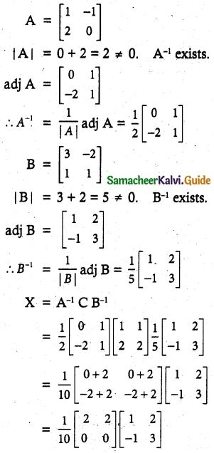 Samacheer Kalvi 12th Maths Guide Chapter 1 Applications of Matrices and Determinants Ex 1.1 37
