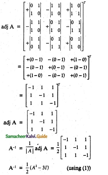 Samacheer Kalvi 12th Maths Guide Chapter 1 Applications of Matrices and Determinants Ex 1.1 41