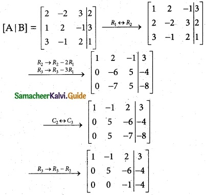 Samacheer Kalvi 12th Maths Guide Chapter 1 Applications of Matrices and Determinants Ex 1.5 1