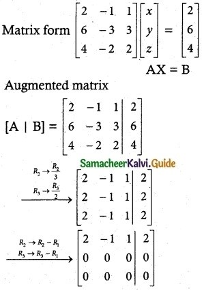 Samacheer Kalvi 12th Maths Guide Chapter 1 Applications of Matrices and Determinants Ex 1.6 5