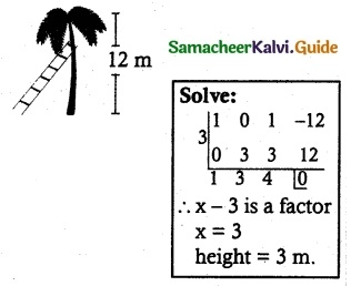 Samacheer Kalvi 12th Maths Guide Chapter 3 Theory of Equations Ex 3.1 9