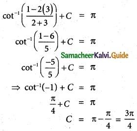 Samacheer Kalvi 12th Maths Guide Chapter 4 Inverse Trigonometric Functions Ex 4.6 4