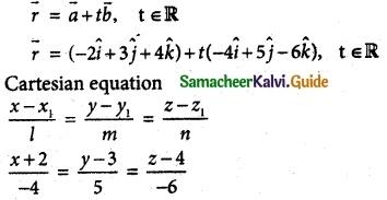Samacheer Kalvi 12th Maths Guide Chapter 6 Applications of Vector Algebra Ex 6.4 2