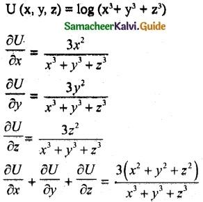 Samacheer Kalvi 12th Maths Guide Chapter 8 Differentials and Partial Derivatives Ex 8.4 9