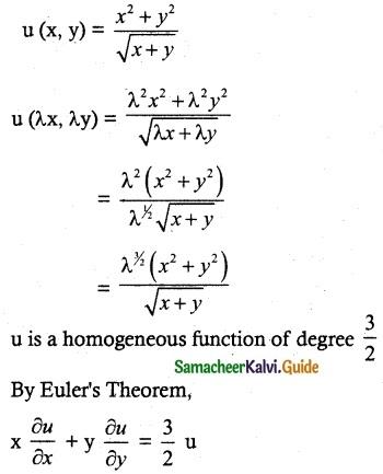 Samacheer Kalvi 12th Maths Guide Chapter 8 Differentials and Partial Derivatives Ex 8.7 6