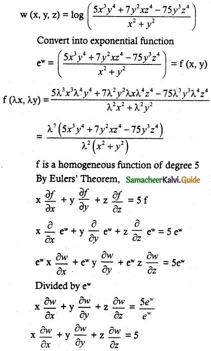 Samacheer Kalvi 12th Maths Guide Chapter 8 Differentials and Partial Derivatives Ex 8.7 8