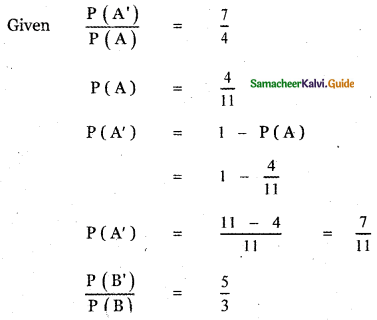 Samacheer Kalvi 11th Maths Guide Chapter 12 Introduction to Probability Theory Ex 12.5 19