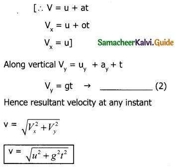 Samacheer Kalvi 11th Physics Guide Chapter 2 Kinematics 101