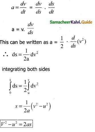 Samacheer Kalvi 11th Physics Guide Chapter 2 Kinematics 27