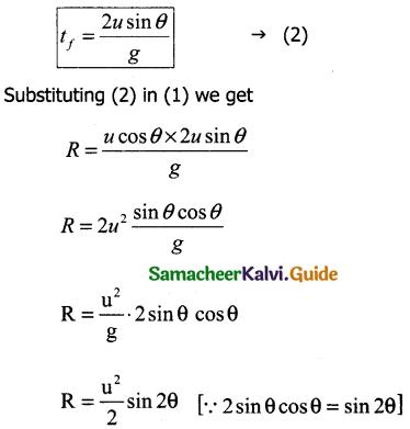Samacheer Kalvi 11th Physics Guide Chapter 2 Kinematics 34