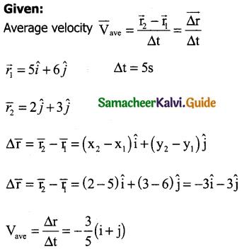 Samacheer Kalvi 11th Physics Guide Chapter 2 Kinematics 42