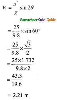 Samacheer Kalvi 11th Physics Guide Chapter 2 Kinematics 58