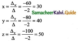 Samacheer Kalvi 12th Business Maths Guide Chapter 1 Applications of Matrices and Determinants Miscellaneous Problems 9