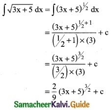 Samacheer Kalvi 12th Business Maths Guide Chapter 2 Integral Calculus I Ex 2.1 1