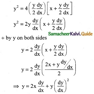 Samacheer Kalvi 12th Business Maths Guide Chapter 4 Differential Equations Ex 4.1 10