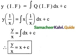 Samacheer Kalvi 12th Business Maths Guide Chapter 4 Differential Equations Ex 4.4 2