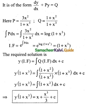Samacheer Kalvi 12th Business Maths Guide Chapter 4 Differential Equations Ex 4.4 4