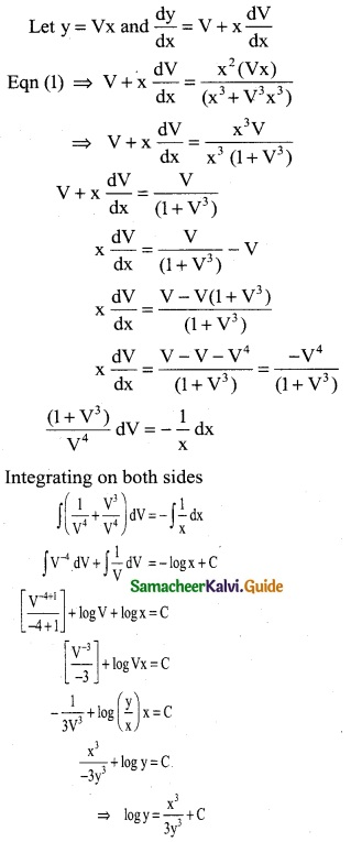 Samacheer Kalvi 12th Business Maths Guide Chapter 4 Differential Equations Miscellaneous Problems 11