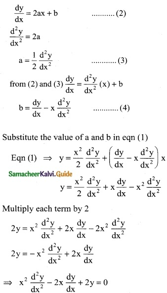 Samacheer Kalvi 12th Business Maths Guide Chapter 4 Differential Equations Miscellaneous Problems 3