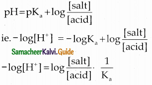 Samacheer Kalvi 12th Chemistry Guide Chapter 8 Ionic Equilibrium 12