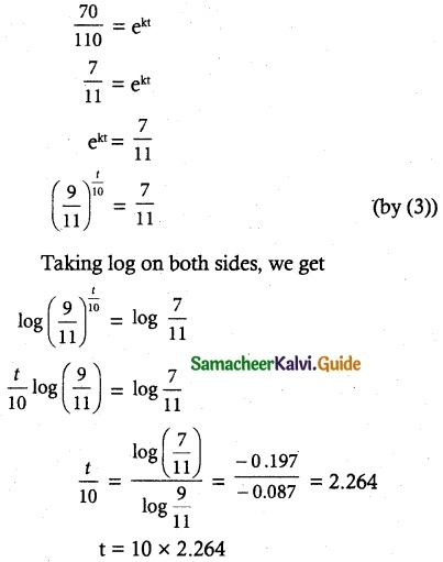 Samacheer Kalvi 12th Maths Guide Chapter 10 Ordinary Differential Equations Ex 10.8 10